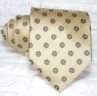Luxus Krawatte seide beige mit blumen breit Italien hochzeit / business € 40