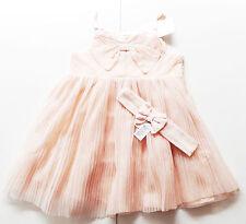 Tüll Kleid Gr.86 H&M NEU rosa glitzer festlich Schleife Haarband Set baby
