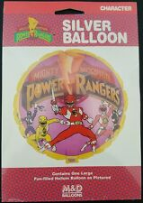 Vintage 1994 Mighty Morphin Power Rangers Silver Helium Party Balloon NEW