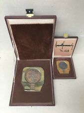 1984 Winter Olympics Sarajevo BIG & STANDARD participant medals Samaranch SIGNED