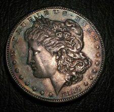 Old US Coins 1885 S Morgan Silver Dollar Highgrade Toned Beauty