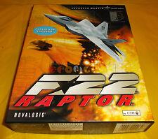 F-22 RAPTOR Pc F22 F 22 Versione Italiana 1ª Edizione Big Box ○○○○○ COMPLETO