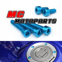 Blue CNC Petrol Fuel Cap Bolts Screws For Yamaha YZF R1 99-16 07 08 09 10 11 13