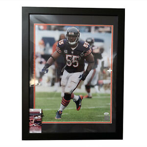 Lance Briggs Chicago Bears Signed 16x20 Framed