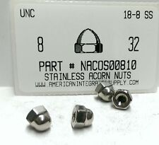 #8-32 Acorn Cap Nuts 18-8 Stainless Steel (10)