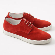 NIB $1250 KITON Tomato Red Suede Low-Top Sneakers US 9 (It 8) Shoes