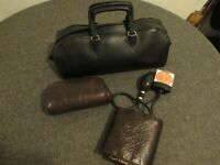 "VINTAGE ""TYCOS II"" BLOOD PRESSURE CUFF+ DR's LITTLE BLACK BAG LIMITED- EXCELLENT"