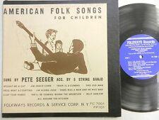 "Pete Seeger AMERICAN FOLK SONGS FOR CHILDREN 10"" LP"