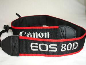 Canon EOS 80D CAMERA NECK STRAP  , Genuine , GUC