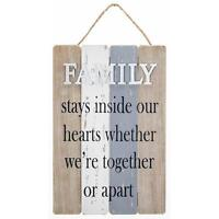 Family Sentiment Gift Vintage Style Rustic Wood Plaque 270441