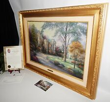 Thomas Kinkade Beyond Summer Gate 36x27 Framed Canvas Oil Painting-COA 1646/2950