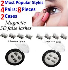 8 Pcs/4 Pairs Magnetic EyeLashes 3D Reusable Magnet Eye lashes Extension No Glue