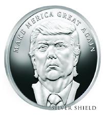 2017 1oz TRUMP PROPHECY MAGA 'MERICA #1 Proof SILVER SHIELD GROUP Trump SSG 777