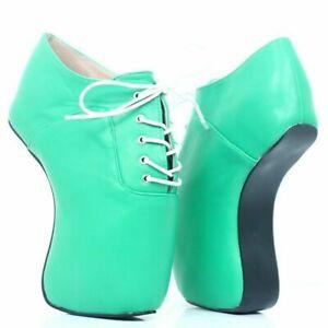 Women's Heelless Ballet Boots Platform Lace Up Patent Leather Multicolor Gothic