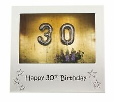 "Happy 30th Birthday Photo Frame - 5"" x 3.5"""