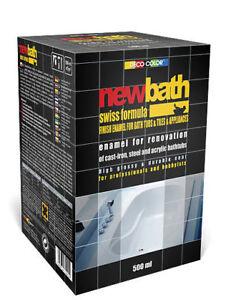 Tub Enamel White Quick Dry Bath Sink Paint Tiles Renovation Bathtubs 500ml