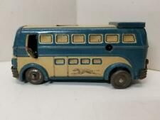 1950'S JOUSTRA WINDUP GREYHOUND TIN LITHO BUS WITH DRIVER AND PASSENGER ACTION