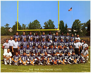 NFL 1968 Color Team Picture Baltimore Colts 8 X 10 Photo Picture