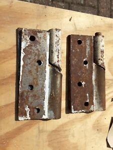 """Vintage Rising Gate Door Hinges Set 4"""" old (2) sets  rare"""