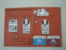advertising Pubblicità 1971 OLIVETTI QUANTA/PRIMA 20/SUMMA 19
