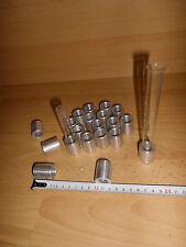 20 RG Ständer zur Erwärmung, aus Aluminium, ca. 16 mm DM Reagenzg., gebraucht