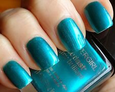 CoverGirl Outlast Stay Brilliant Nail Gloss Polish CONSTANT CARIBBEAN Teal Blue