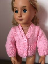 """Dolls Clothes Cardigan Fit  18"""" Girl Doll And 43cm Baby Doll  Handmade"""