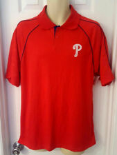 PHILADELPHIA PHILLIES Mens Polo Shirt Size Medium True Fan Series Stitched Logo
