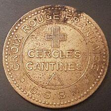 1 RARE JETON - s.s.b.m. - CROIX ROUGE FRANCAISE - CERCLE CANTINES -TRIANGLE