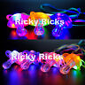 Light Up Pacifier LED Rave Party Glow Glowing Whistle Flashing Lanyard Blinking