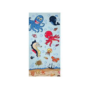 Octopus Kid's Beach Towel, 100% Cotton Soft Quick Dry Turkish Bath Towel
