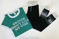 NWT Victorias Secret PINK Campus Leggings Bling T-shirt Tee Set Small Holiday