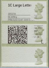 Erreur imprimée sur 3 Machin Post & Go RARE fini grande lettre £ 1.27 Taux