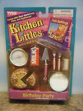 BARBIE TYCO KITCHEN LITTLES BIRTHDAY CAKE PARTY SET *NEW*