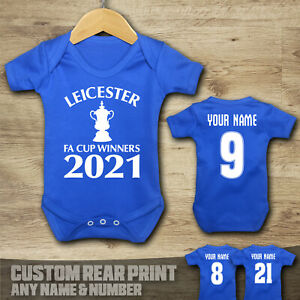 LEICESTER - FA CUP WINNERS 2021 - Baby Vest Suit Grow