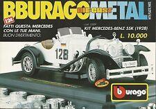 X1243 Kit Marcedes Benz SSK (1928) - BBURAGO - Pubblicità 1991 - Advertising