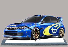 AUTO RALLYE MINIATURE, SUBARU  IMPREZA WRC-03 en horloge