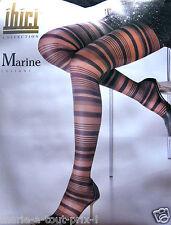Collants noirs de luxe IBICI MARINE rayures noires rayés noir taille XL 4