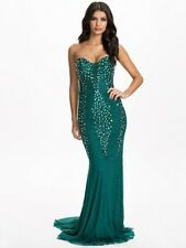 BNWT Forever Unique Una Gem Embellished Illusion Maxi Dress Gown UK8 RRP £330
