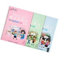 3 Pcs Students English Letter Writing Practice Book Groove Calligraphy Copybook