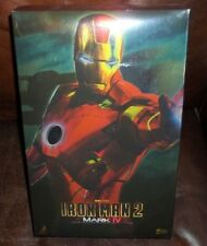 "hot toys 12"" 1/6 scale iron man 2 mark iv armor figure movie masterpiece 2010"