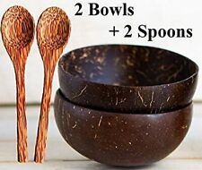 New ListingBeyond Bowls | Natural Coconut Bowls w/ Spoons (Set of 2 Bowls + 2 Spoons) Vegan