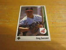 Greg Swindell Autographed Signed 1989 Upper Deck #250 Card MLB Cleveland Indians