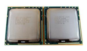 Matching pair Intel Xeon L5640 2.26GHz 12MB LGA1366 6 Core CPU Processors