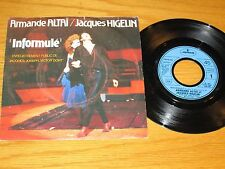 "FRANCE 45 RPM/PICTURE SLEEVE - ARMANDE ALTAI & JACQUES HIGELIN - ""INFORMULE"""