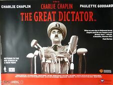 THE GREAT DICTATOR  2003 BFI RE-RELEASE QUAD POSTER CHARLIE CHAPLIN