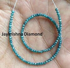 """7.13 ct Rare Natural Blue Polished Faceted Loose Diamond Beads 7"""" Half Strand"""