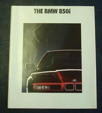 BMW 850i Car Sales Brochure February 1990 #0110806212/90
