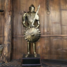 Hand-Made Iron European MEDIEVAL KNIGHT CRUSADOR SUIT OF METAL ARMOR 4.4'