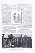1901 Knebworth Hall King Richard III Reine Anne L'amiral Sir Hotham et personnel